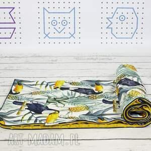 kocyk pokoik dziecka żółte minky 100x135 tukany