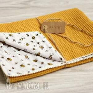 żółte pokoik dziecka kocyk musztardowa pszczoła