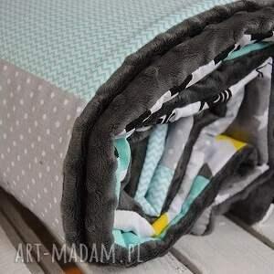 niekonwencjonalne pokoik dziecka kocyk, narzuta patchwork 75x130