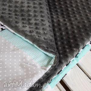 minky pokoik dziecka kocyk, narzuta patchwork 75x130 cm