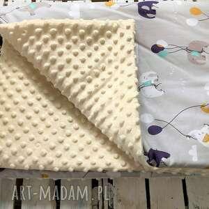 poduszka kocyk z poduszką słoniki