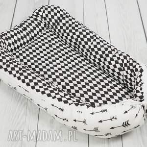 betulli ręczne wykonanie pokoik dziecka kokon dla niemowlaka - bialo czarny
