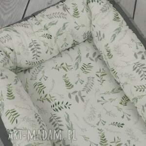 zielone pokoik dziecka gniazdko kokon dla niemowlaka vintage