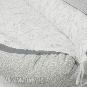 białe pokoik dziecka kokon niemowlęcy dla niemowlaka - ptaszki