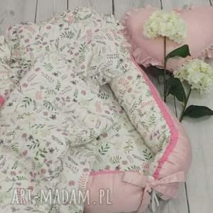 kokon dla niemowlaka pokoik dziecka różowe dla akwarelowe