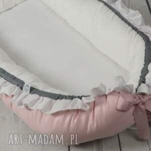eleganckie pokoik dziecka kokon niemowlęcy z falbanką