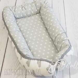 białe pokoik dziecka kokon niemowlęcy otulacz chmurki