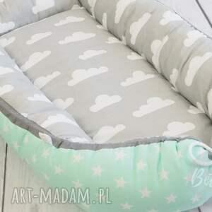 gustowne pokoik dziecka kokon niemowlęcy otulacz szaro