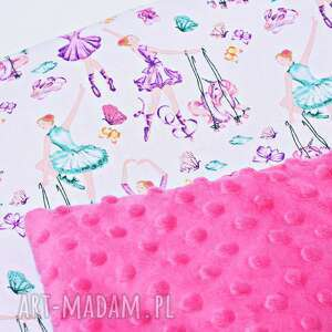 kołderka pokoik dziecka minky baletnice różowe