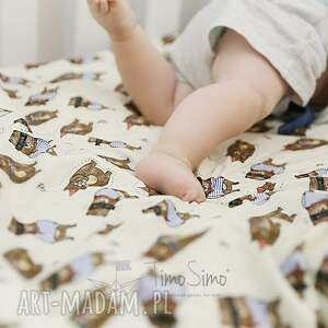 pokoik dziecka bawełna kołderka minky wesołe zwierzaki