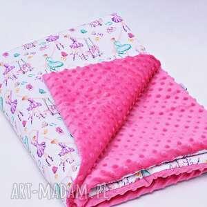 pokoik dziecka kocyk kołderka minky baletnice różowe
