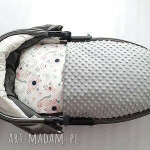 białe pokoik dziecka minky komplet do wózka coramelli kocyk