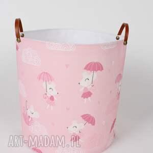 różowe pokoik dziecka pojemnik komplet pojemników z myszką