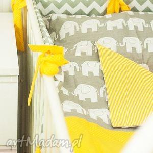 żółte pokoik dziecka pościel komplet pościeli słonie
