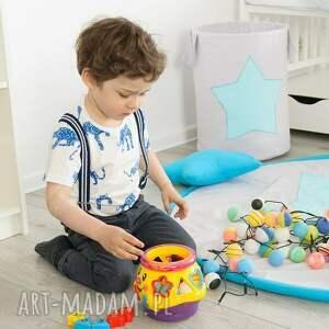 turkusowe pokoik dziecka turkus kosz na zabawki turkusowa gwiazdka