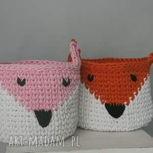 różowe pokoik dziecka kosz koszyk lis