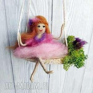 lalka pokoik dziecka zielone laleczka liliana. Różowa wróżka