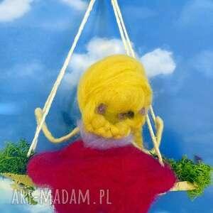 lalka pokoik dziecka żółte laleczka magdalena-mobil. Lawendowa