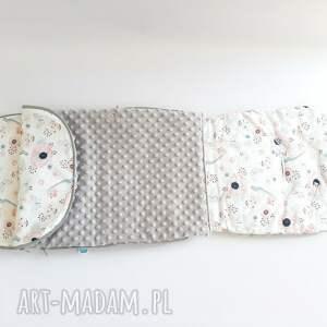 białe pokoik dziecka śpiworek letni - wkładka do wózka