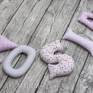 hand-made pokoik dziecka napis literki z bawełny zosia