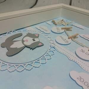 szare pokoik dziecka urodziny maluszkowa metryczka