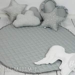 pokoik dziecka dywanik mata do zabawy pikowana szara