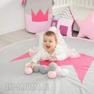 różowe pokoik dziecka pokójksiężniczki mata do zabawy princessa