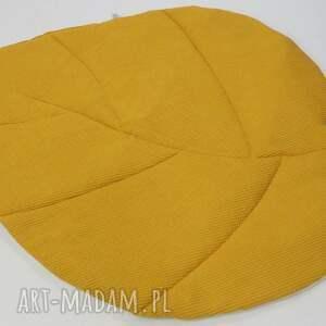 żółte pokoik dziecka mata do zabawy liść musztardowa waffle