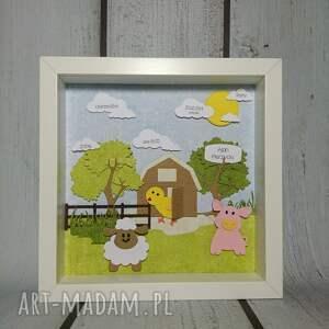 zielone pokoik dziecka owca metryczka - farma mcdonalda