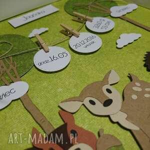 wyjątkowe pokoik dziecka urodziny metryczka - lesni przyjaciele