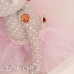 awangardowe pokoik dziecka baletnica miś na urodziny, chrzciny