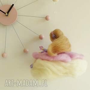 filc pokoik dziecka mobil - różowa wróżka na chmurce