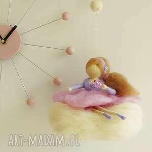 pokoik dziecka filc mobil - różowa wróżka na chmurce