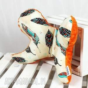 NuvaArt pokoik dziecka: Motylek - poduszka antywstrząsowa Pióra Orange