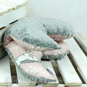 białe pokoik dziecka poduszka motylek - antywstrząsowa