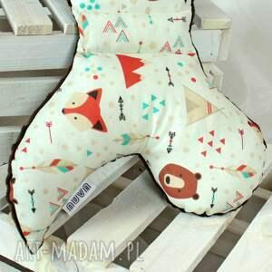 NuvaArt pokoik dziecka: Motylek - Poduszka antywstrząsowa Lis Indianin atywstrzasowa