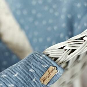 pokoik dziecka: Muślinowy otulacz z poduszką - niebieskie dmuchawce