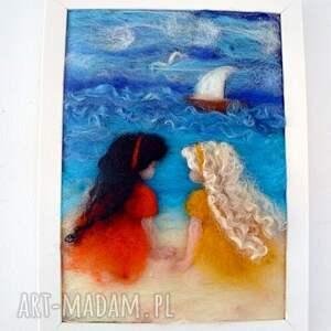 żółte pokoik dziecka morze nad brzegiem morza. Obraz
