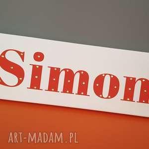 ręcznie wykonane pokoik dziecka podświetlane napis led twoje imię obraz