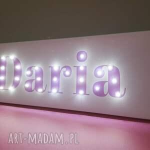 różowe pokoik dziecka neon napis led twoje imię