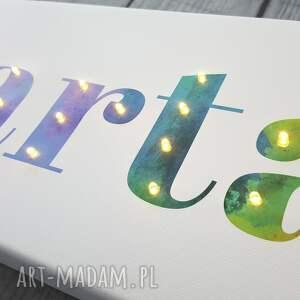 lampka pokoik dziecka napis led twoje imię