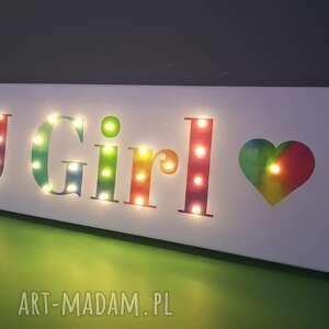 litery pokoik dziecka tęczowy obraz typograficzny z twoim imieniem