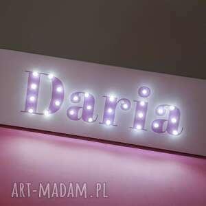 eleganckie pokoik dziecka neon tęczowy obraz typograficzny z twoim imieniem