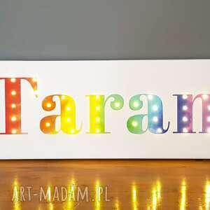 litery pokoik dziecka napis led imię twoje słowo prezent