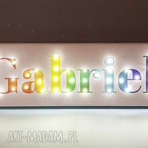 niepowtarzalne pokoik dziecka tęcza napis led neon twoje imię