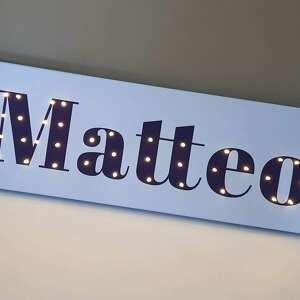 pokoik dziecka urodziny napis led twoje imię obraz