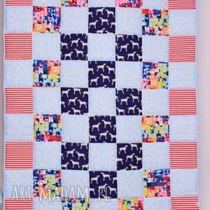 hand made pokoik dziecka komplet patchwork narzuta dalmatian holiday 95x150cm