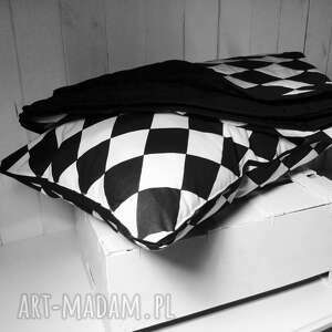 romby pokoik dziecka narzuta/kołderka biało-czarne