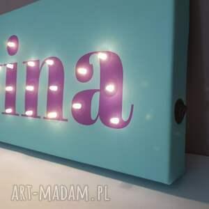pokoik dziecka: Neon z imieniem, obraz LED, personalizowany prezent na urodziny 18, 20 litery