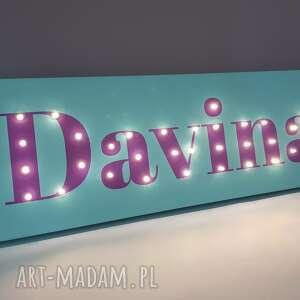 pokoik dziecka: Neon z imieniem, obraz LED, personalizowany prezent na urodziny 18